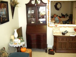 Antique Secretary Desk 1950 Era Very Good Condition