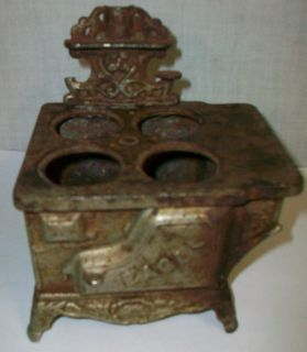 Vintage Eagle Cast Iron Metal Stove Oven Toy Sample