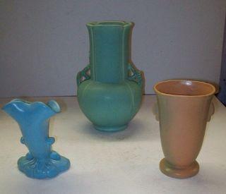 Vintage Weller Pottery Collection Vase Bowl Candlestick