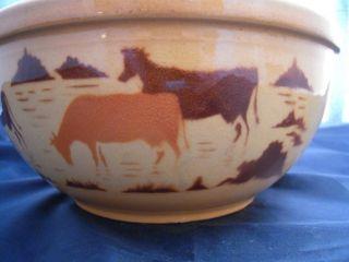 MEDALTA Potteries Medicine Hat Alberta Art Pottery Mixing Bowl COWS