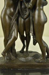 13 Deco Art Bronze Greek The Graces Three Goddess Statue Sculpture