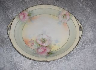 Antique Prussia China Handled Plate Royal Rudolfstad