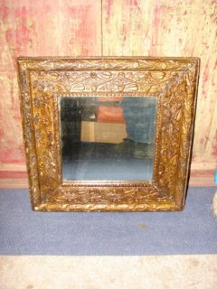 Vintage Wall Hanging Ornate Gold Framed Beveled Mirror