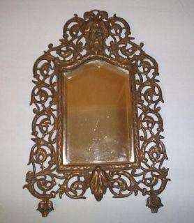 antique mirror bacchus cast iron frame grapes leaves description