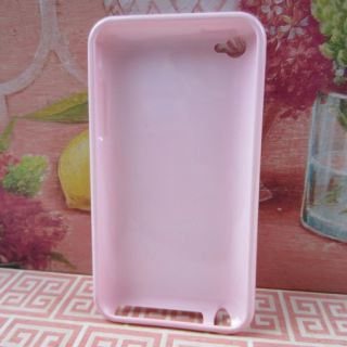 Apple iPod Touch 4 4G Pink Minnie Mouse Disney Rubber Silicone Skin
