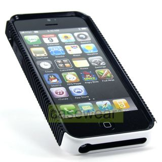 Protect your Apple iPhone 5 with White Black Dual Flex Case