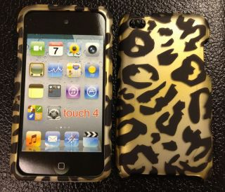 iPod Touch 4G 4th Gen Brown Cheetah Hard Case Cover