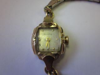 Bulova Vintage Winder Ladies Watch 10K Rolled Gold Serial Number
