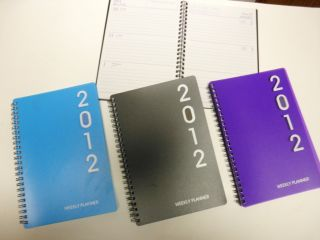 2012 Weekly Planner Appointment Calendar Agenda Book Purple