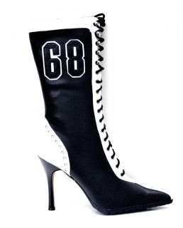 Anne Michelle Black White Womens Sexy Sneaker High Heel Long Boots