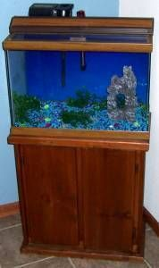 how to make a hexagon fish tank stand