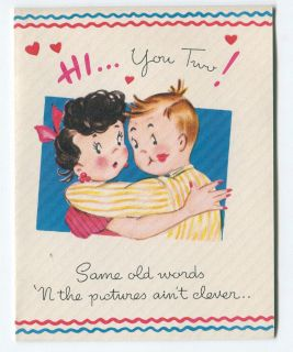 Vintage Wedding Anniversary Greeting Card Unused CA 1940s