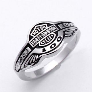 Harley Davidson 100 Anniversary 1903 2003 Ring Size11 Stainless Steel