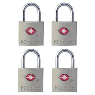 New Master Lock TSA Accepted Keyed Padlock 4 Pack