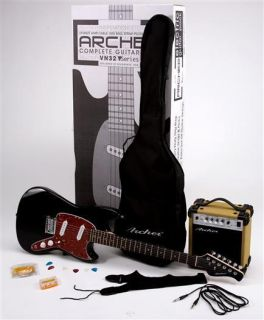 Archer VN32 Electric Guitar Pack w Amp Cable Gig Bag Strap Picks