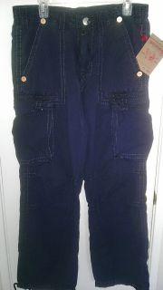 True Religion Mens Anthony Poplin Cargo Pant Size 28 29 31 Midnight