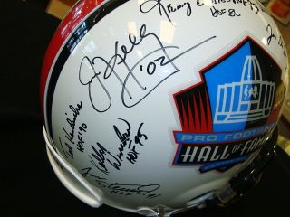 Pro Football Hall of Fame Multi Signed Authentic Riddell Helmet w Lynn