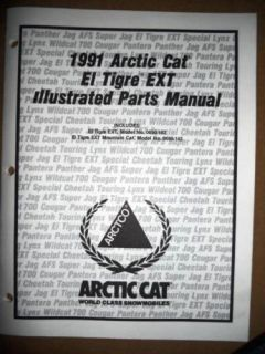 Arctic Cat Illustrated Parts Manual 1991 El Tigre Ext