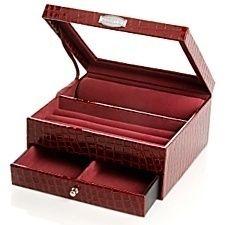 Prestige Multi Purpose Jewelry Box Anti Tarnish DK Red