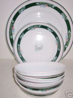 Arcopal France Dinnerware Bowls Salad Dinner Plates GC