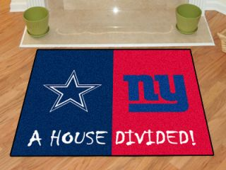 & New York Giants NFL House Divided 34 x 45 Area Rug Floor Mat
