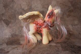 TRUE LOVE   My Little Pony Zombie Pegasus Custom MLP OOAK Valentine