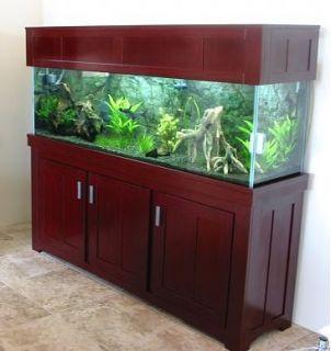 Custom oak plywood stand and 125 gallon aquarium set up for 125 gallon fish tank stand
