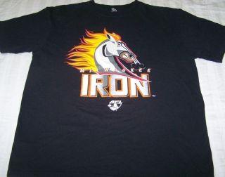 Milwaukee Iron Arena Football League Shirt Large Mustangs AFL