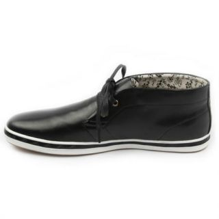 Arider AR3091 Men High Top Leather Casual Shoes Black