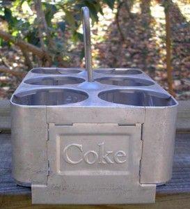 Aluminuim Six Pack Bottle Carrier 1950s Arkansas City Kansas