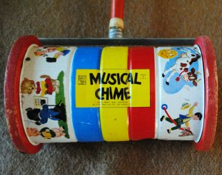Vintage Fisher Price Pull Push Toy 722 Chimes