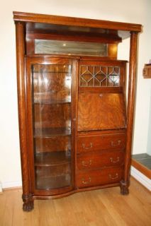 Turn of The Century Oak Antique Secretary Desk