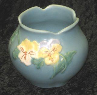 Vintage WELLER ART POTTERY PANELLA Rose Bowl Vase Excellent