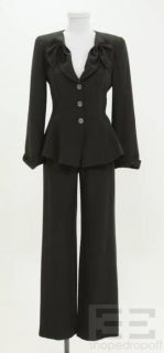 Armani Collezioni 2pc Grey Flat Front Pants & Jacket Suit Size 2/4