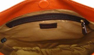 Antonio Melani Verticle Large Leather Hobo Handbag Purse Shoulder Bag