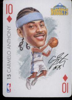 Carmelo Anthony Denver Nuggets NBA Playing Card 2004 Big Head