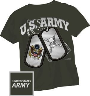 ARMY DOG TAGS MILITARY US ARMY T SHIRT TEE XL