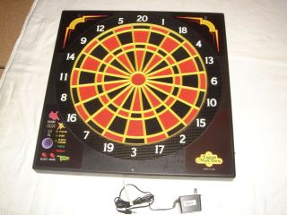 Arachnid Pro Electronic Dart Board Cricket Set Manual Darts Etc Great