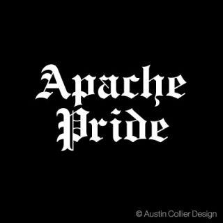 Apache Pride Vinyl Decal Car Sticker Native American