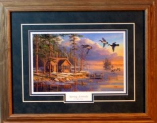 mary pettis framed duck cabin print spring arrivals