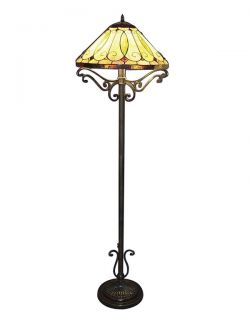 Handcrafted Arroyo Styled Tiffany Style Stained Glass Floor Lamp
