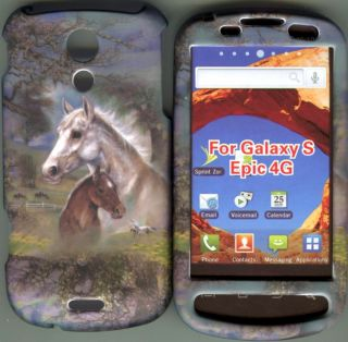 Epic 4 G Sprint Galaxy s Hard Case Cover Cell Phone Case Horses