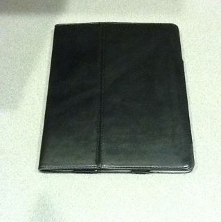 Apple iPad 2 Black Leather Case Brand New