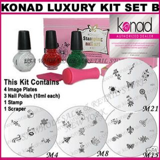 Pick Any Konad Stamping Nail Art Kit Polish Image Plate USA Seller