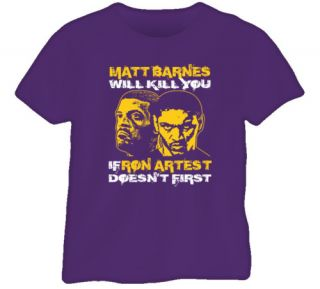 Matt Barnes Ron Artest Los Angeles Basketball T Shirt