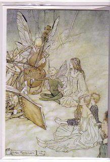 Arthur Rackham 2 Birthday Cards Fairy Greetings Vintage Reproductions