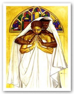 African American Art Pray Together Stay Together by WAK