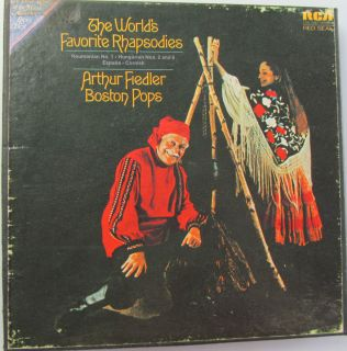 ARTHUR FIEDLER & BOSTON POPS WORLDS FAVORITE RHAPSODIES REEL TO REEL