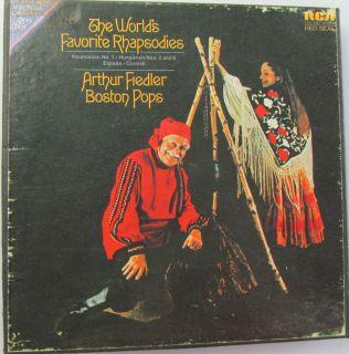 ARTHUR FIEDLER & BOSTON POPS WORLDS FAVORITE RHAPSODIES REEL TO REEL