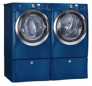 Electrolux Blue Front Load Washer and Electric Dryer Laundry Set w